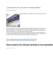 Sears January 4Q Information