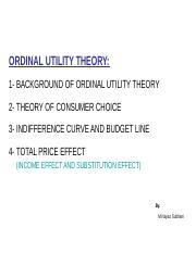ordinal utility theory
