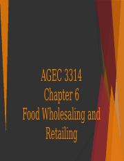 Chapter 6 AGEC 3314