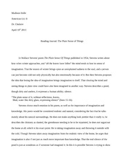 Essay and Analysis on The Plain Sense Of Things