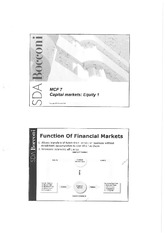 Capital Markets Equity 1