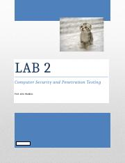 Pen Testing LAB 2 - Accounts Audits.docx