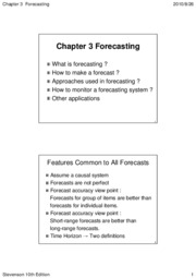 Chapter 03 Forecasting (10th)
