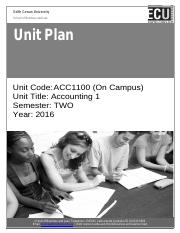 Unit Plan -Accounting 1