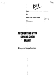 financial accouting-exam 1
