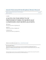 A NOTE ON THE EFFECTS OF PREPAYMENT RISK ON MORTGAGE COMPANIES AN.pdf