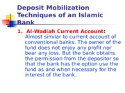 Deposit Mobilization by IBs