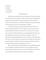 creative writing memoir