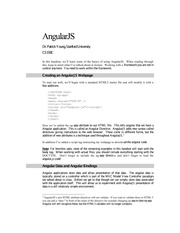 The AngularJS languages and framework