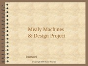 Mealy Machines & Design Project