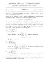 MATH 2050 Spring 2011 Assignment 2 Solutions