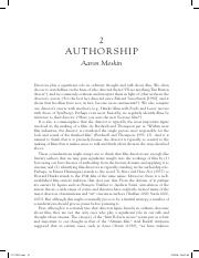Meskin authorship