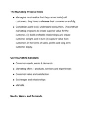 The Marketing Process Notes