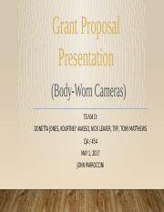 Grant proposal presentation week 5