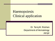 Haemopoiesis and Clinical application 3.57.51 PM