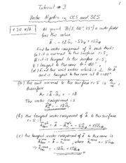 Tutorial 03 - Vector Algebra Notes