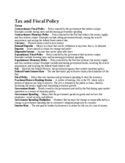 Tax and Fiscal Polic1