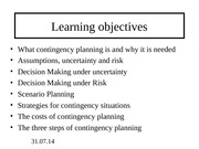 contingency+planning