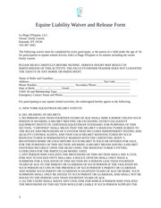 Making Equine Contracts