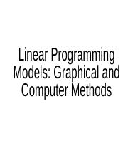04. Linear Programmin-graphical and computer methods