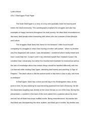 deaf again by mark drolsbaugh essay