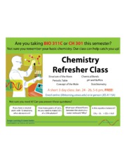 Chem refresher flier-1