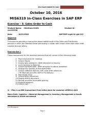 SAP Exercise 5 - Sales Order to Cash Old-New (1).docx