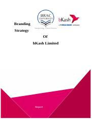 Branding Strategy of bKash, Final Report.doc