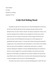 Little Red riding Hood Pre-write