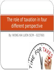 Role of Tax