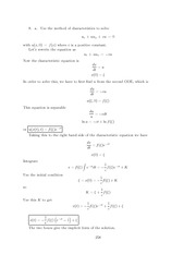 Differential Equations Lecture Work Solutions 258