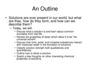 Lecture 1--Properties of Solutions