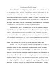 750 word decription essay a traditional meal with the family a