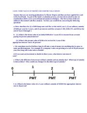 MSA Case Time Value of Money-Corporate Finance
