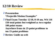 12_10_Projectile_Review