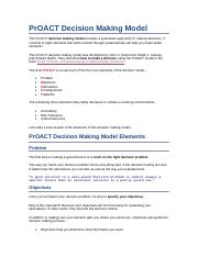 PrOACT Decision Making Model