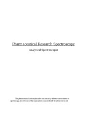 Pharmaceutical Spectroscopy