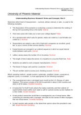RES 351 Week 5 Indvisual Understanding Business Research Terms and Concepts Part 3