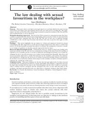 The law dealing with sexual favouritism in the workplace.pdf