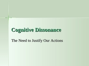 Ch 6 Cognitive Dissonance.student