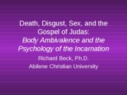 Lextureship_Death__Disgust__Sex__and_the_Gospel_of_Judas__Part_2