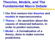 ECN 302-602 (3), Theories, Models, and The Fundamental Macro Debate