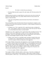 thesis paper on catcher in the rye