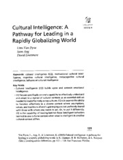 6. Cultural Intelligence