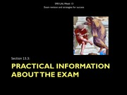 13.3 Practical information about the exam