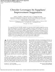 Chrysler leverages its suppliers' improvement suggestions.pdf