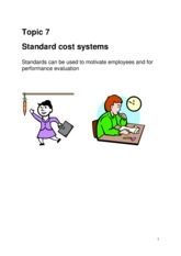 Topic 7 Standard cost systems