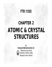 Chapter 2_Atomic Crystal Structure