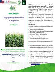 CIMMYT Training Course_ Flyer_for 29-31 May 2014_final