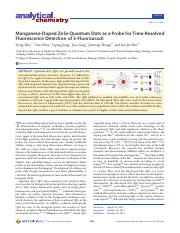 Manganese-Doped ZnSe Quantum Dots as a Probe for Time-Resolved Fluoresence Detection of 5-FU.pdf